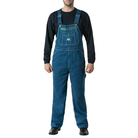 Men's 100% Cotton Stonewashed Denim Bib Overall (Mens Skiing Bibs)