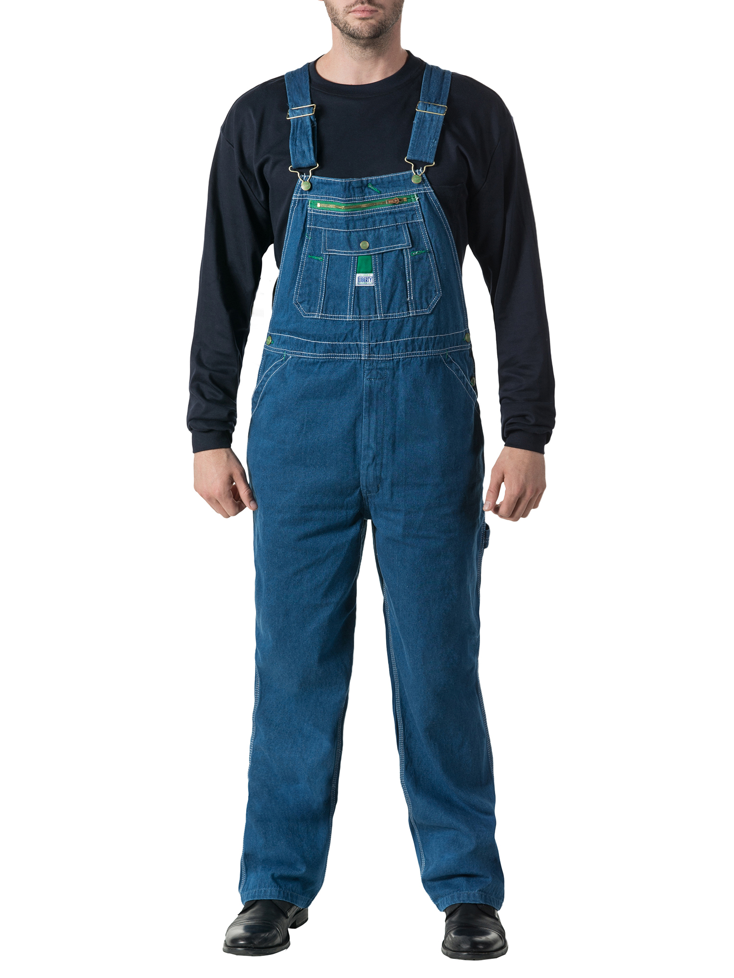 Men's 100% Cotton Stonewashed Denim Bib Overall