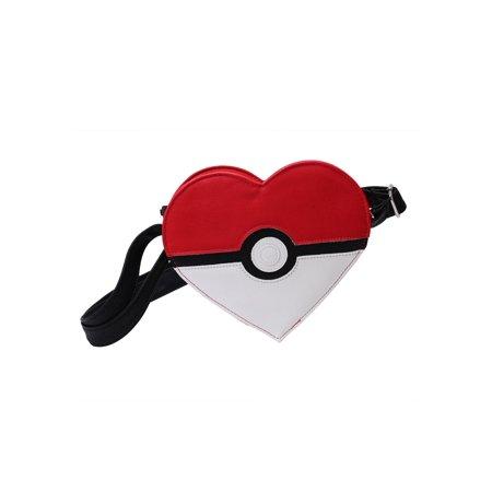 Pokemon Pokeball Heart Faux Leather Cross Body Purse](Pokemom Girls)