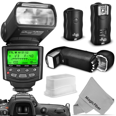 Altura Photo Professional Flash Kit for NIKON DSLR - Includes: I-TTL Flash (AP-N1001) , Wireless Flash Trigger Set and Accessories
