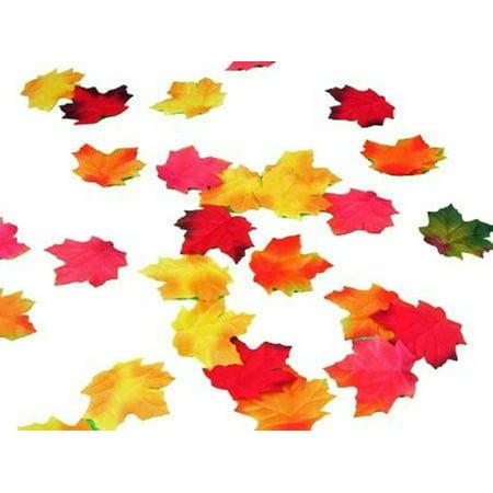 Fall Silk Leaves (Maple Leaves 72 Pc Silk Fall Leaf Decorations)
