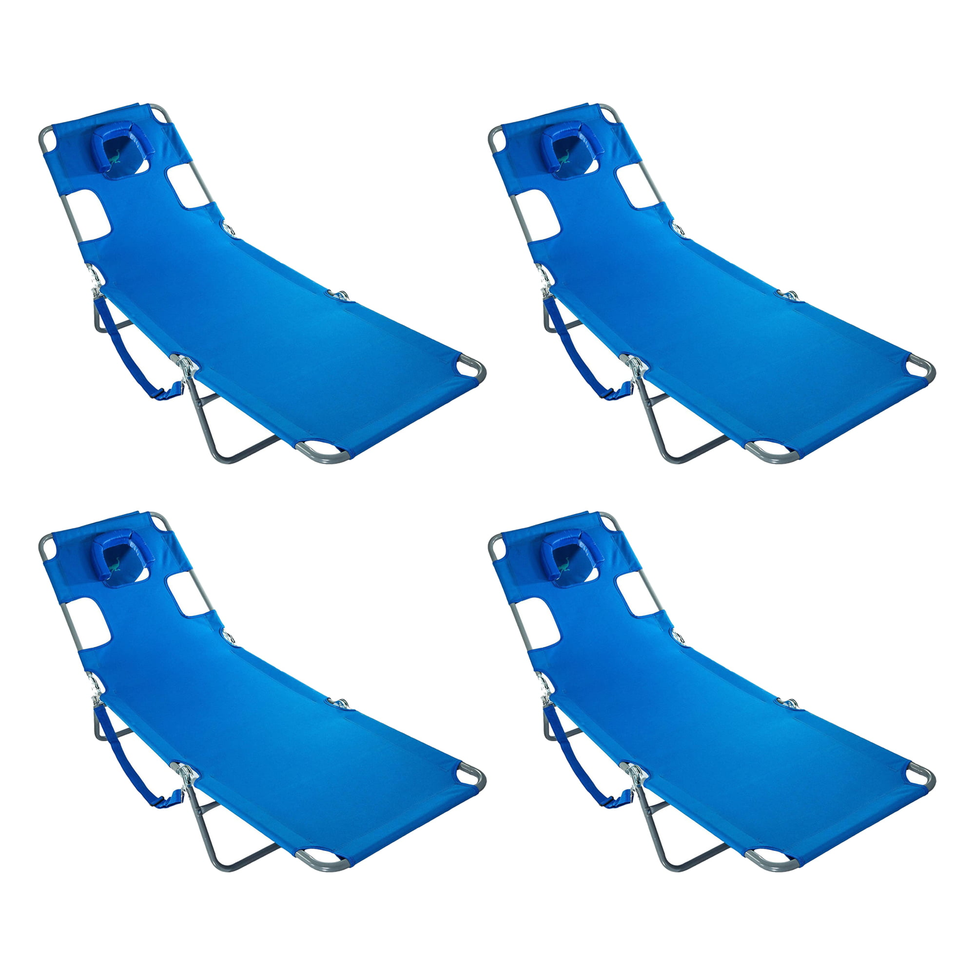 Ostrich Chaise Lounge Lightweight 3 Position Folding Beach Chaise Lounge