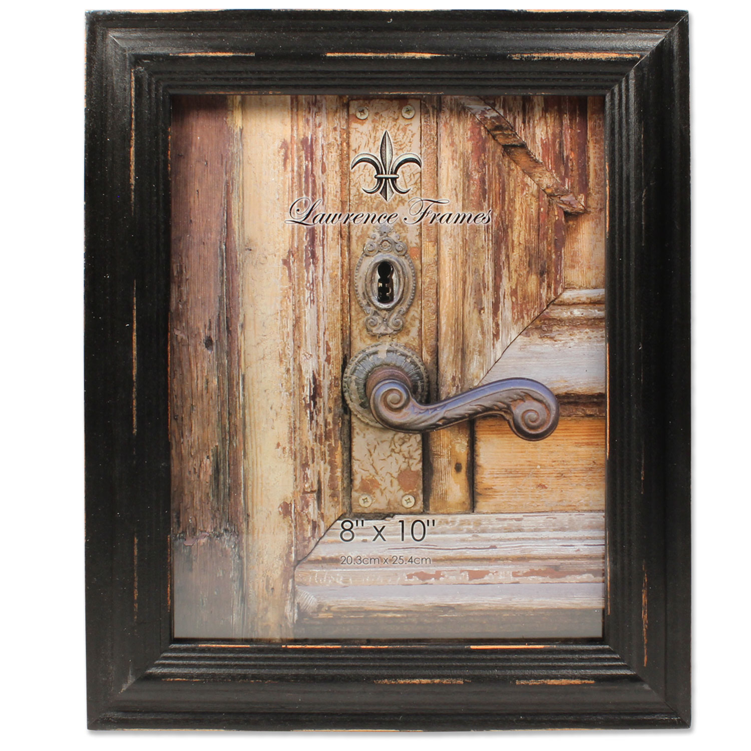 Click here to buy 8x10 Weathered Black Wood Picture Frame by Lawrence Frames.
