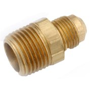 714048-0612 Brass Flare Connector, Lead-Free, 3/8 x 3/4-In. MIP - Quantity 1