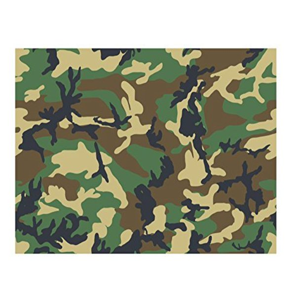 Phenomenal 1 4 Sheet Woodland Camo Birthday Edible Cake Cupcake Party Funny Birthday Cards Online Overcheapnameinfo