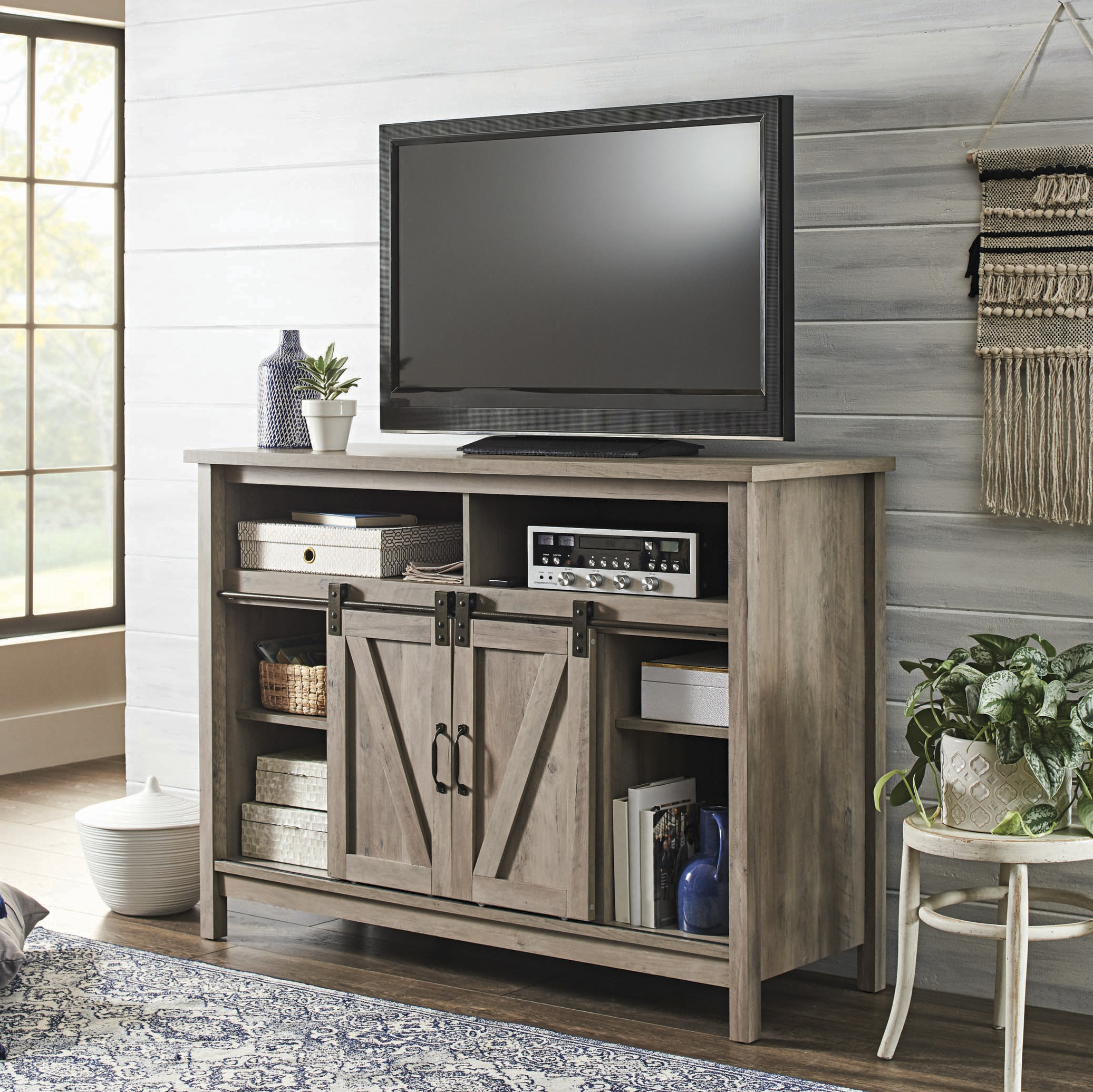 27 Better Homes & Gardens Modern Farmhouse Fireplace Credenza for TVs up to  10
