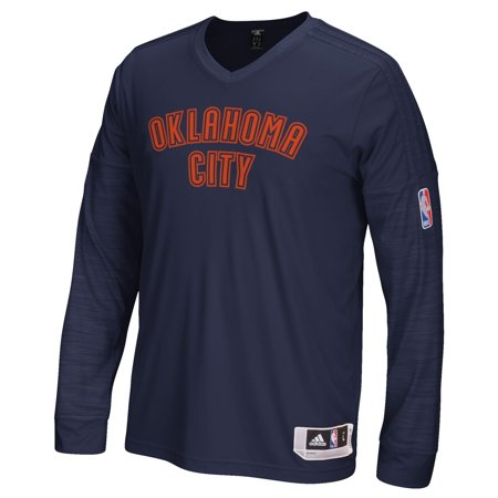 Oklahoma City Thunder Adidas 2015 NBA On-Court Authentic L S Shooting Shirt by