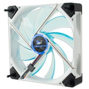 Kingwin DB-123 Duro White Frame / Blue LED PC Computer Case Fan (120mm) NEW