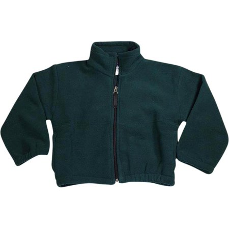 Kaynee - Little Boys Long Sleeve Fleece Zip Jacket GREEN / 10/12