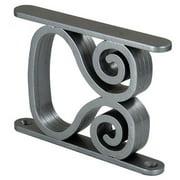 Federal Brace 39593 Danube Swirl Post, Satin Silver - 5 Inch