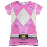 Power Rangers - Pink Ranger - Juniors Cap Sleeve Shirt - XX-Large