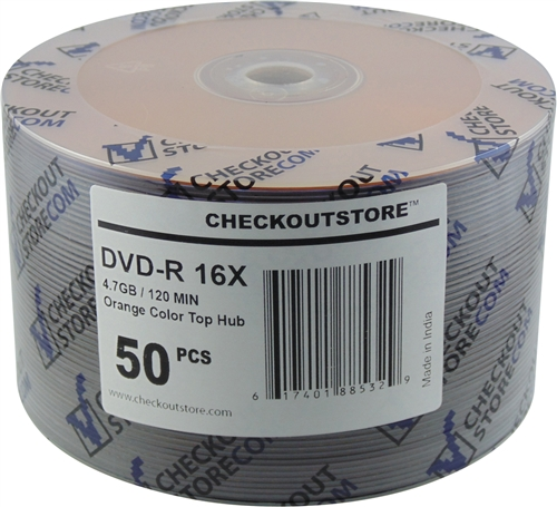 50 CheckOutStore 16X DVD-R 4.7GB Orange Top