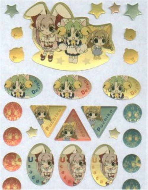 Di Gi Charat Foil Sticker Sheet C