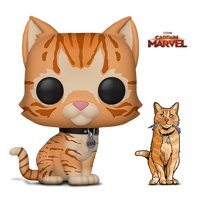 Warp Gadgets Bundle - Funko Pop Marvel Captain Marvel - Goose The Cat and Figpin Mini - Captain Marvel Goose The Cat - Collectible Enamel Pin (2 Items)