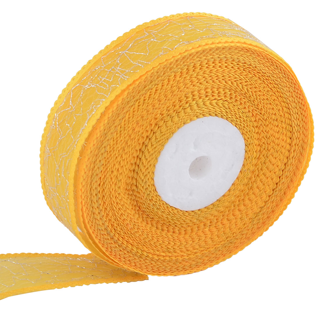 Festival Birthday Polyester DIY Cake Decorative Packing Craft Ribbon Roll Yellow