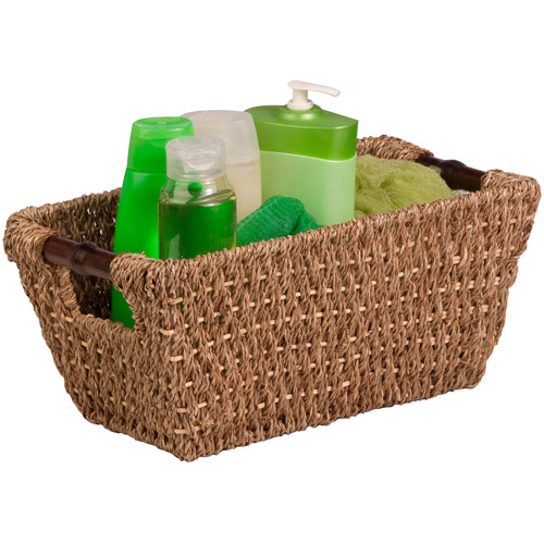 Honey-Can-Do Seagrass Basket with Handles, Small