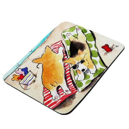 Beach Corgis Welsh Corgi Dog Art by Denise Every - KuzmarK Mousepad / Hot Pad /