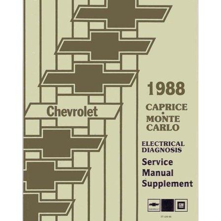 - Bishko OEM Repair Maintenance Shop Manual Bound for Chevrolet Caprice, Monte Carlo - Electrical Diagnosis 1988