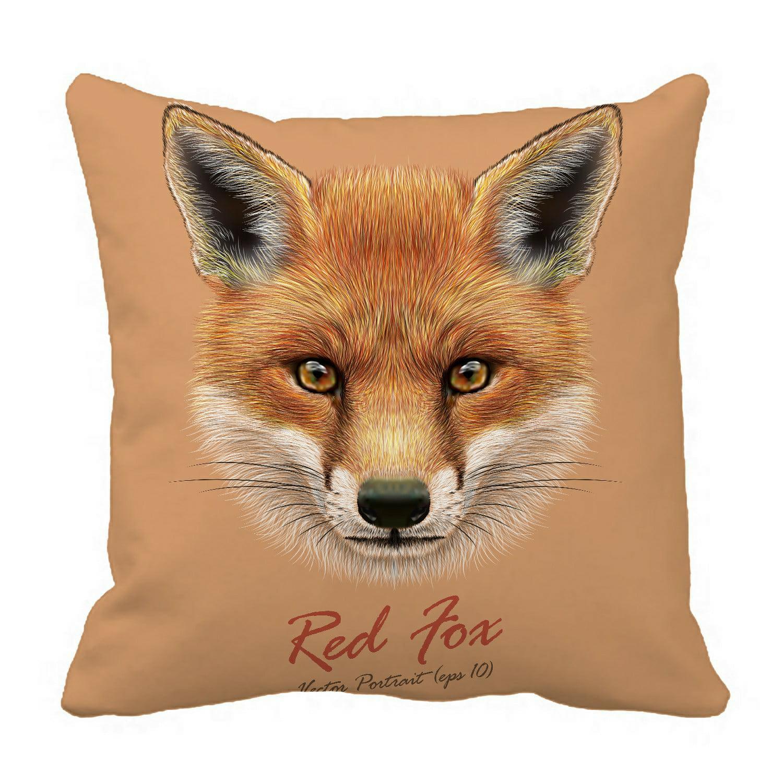 Eczjnt Fluffy Face Forest Fox Pillow Case Cover Set 20x20 Inch Walmart Com Walmart Com