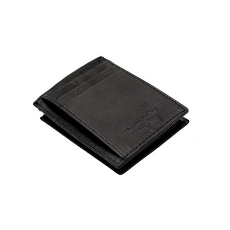 genuine leather credit card holder case small front pocket id expandable pocket walmartcom - Leather Credit Card Holder