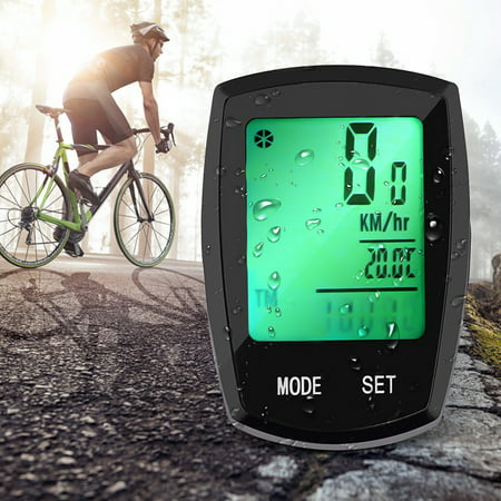 Thorfire Wireless Bicycle Computer , Bicycle Speedometer and Odometer Waterproof Cycle Computer with LCD Backlight Display, Automatic Wake-up,