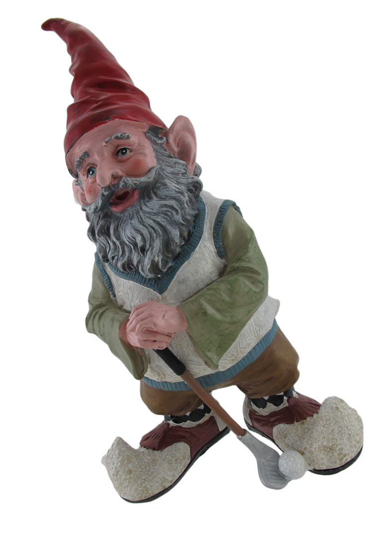 Greg the Golfing Gnome 14 In. by Home Styles