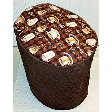 Quilted Coffee Themed Cover For Keurig K2 0 K200 Coffee Brewing System  Chocolate Brown
