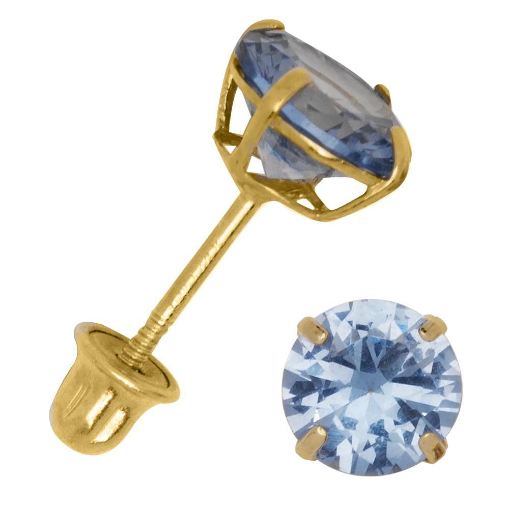 Hot Fashion Fine Jewelry 18Kt Solid Yellow Gold Wedding Wear Stud Earrings Screw