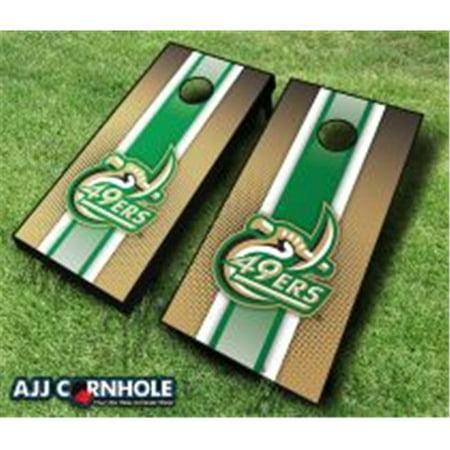 AJJCornhole 110-UNCCharlotteStriped UNC Charlotte 49ers Striped Theme Cornhole Set with Bags - 8 x 24 x 48 in.](49ers Theme)