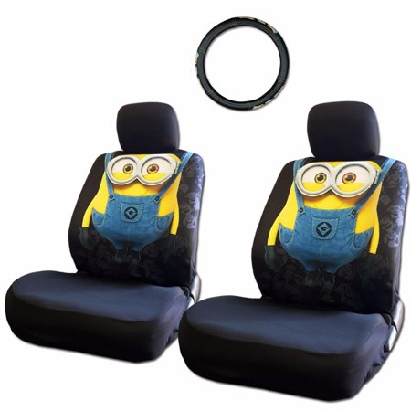 Wondrous New Design Universal Picture Despicable Me Minions Car Seat Covers And Steering Wheel Cover Set Andrewgaddart Wooden Chair Designs For Living Room Andrewgaddartcom
