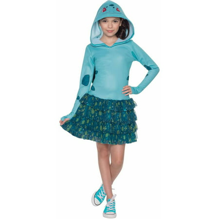 Pokemon Bulbasaur Hoodie Dress Child Halloween Costume