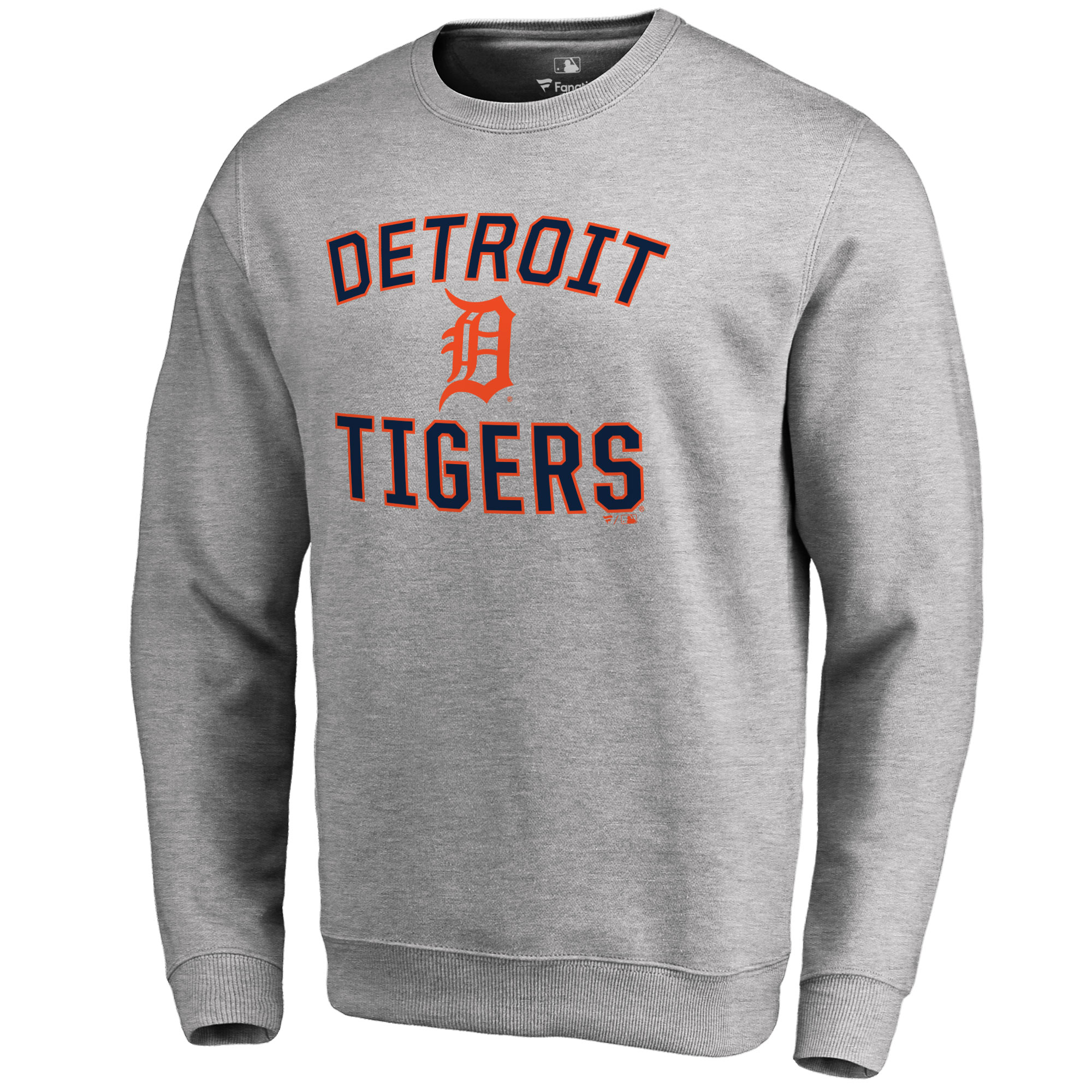 Detroit Tigers Victory Arch Pullover Sweatshirt - Ash