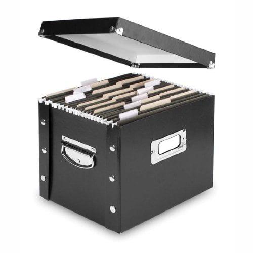 Snap-N-Store Letter-Size File Box Black (SNS01533)