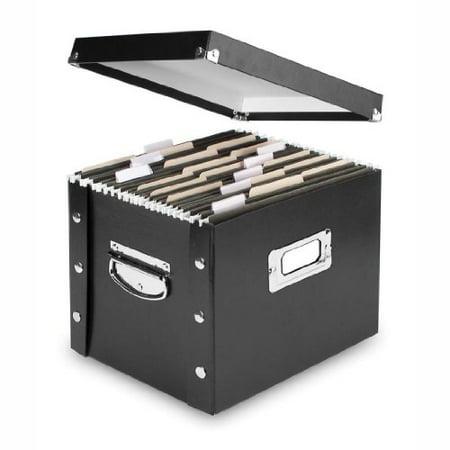 - Snap-N-Store Letter-Size File Box Black (SNS01533)
