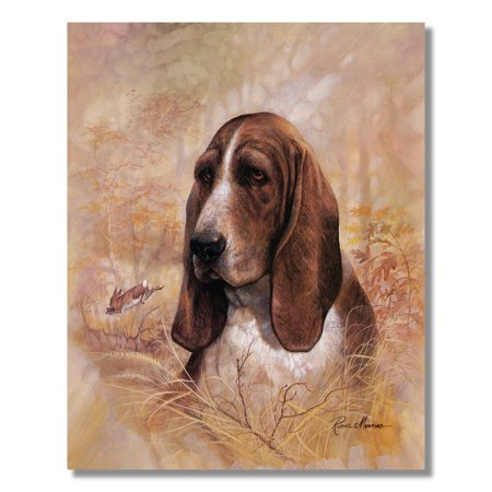 Basset Hound Puppy Dog w/ Rabbit Forever Faithful Wall Picture 8x10 Art Print