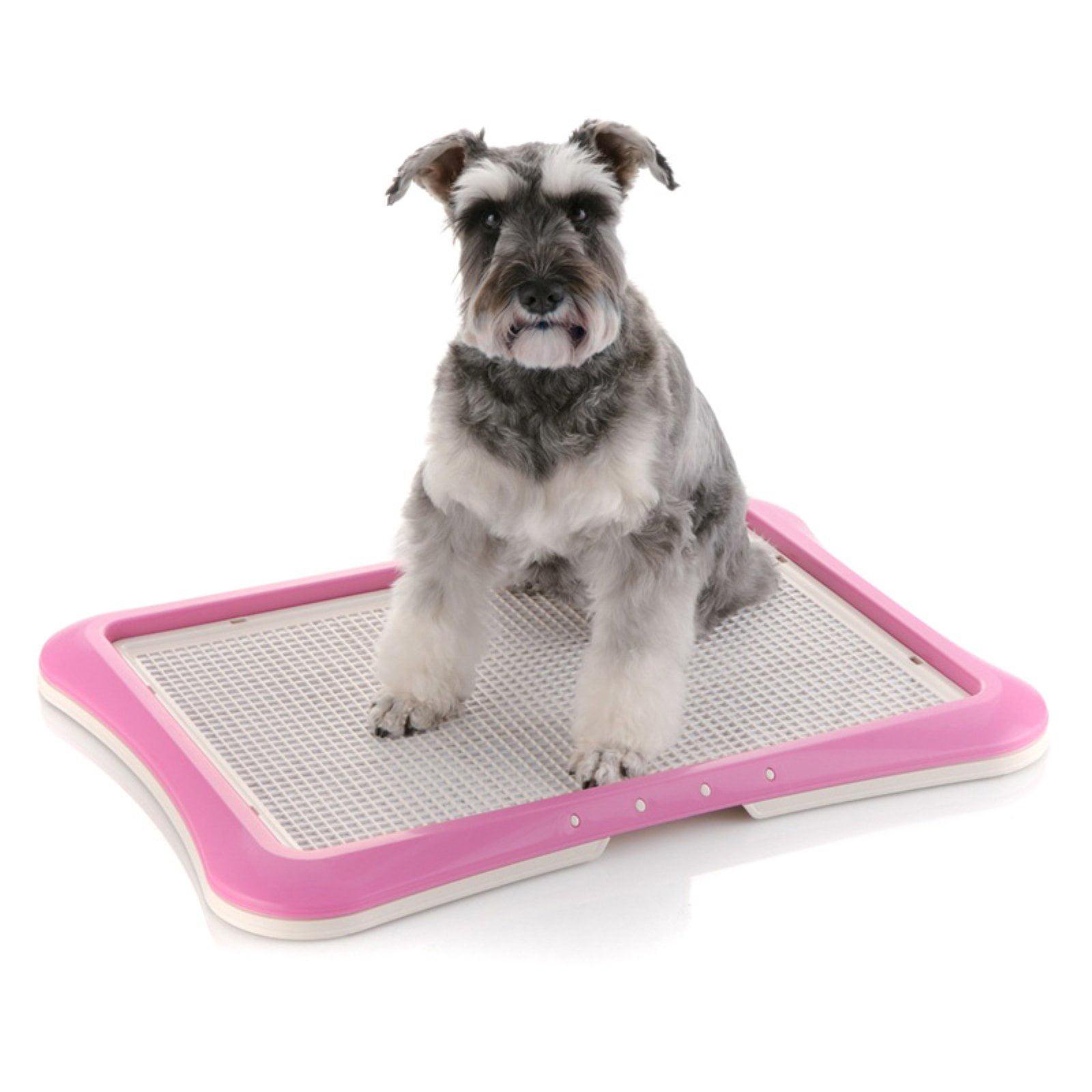 "Richell Paw Trax Mesh Training Tray, Pink, 25.2"" x 18.9"" x 1.6"""
