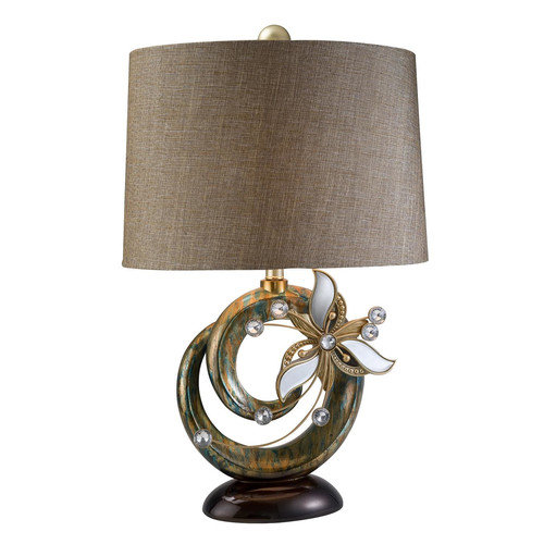 OK Lighting Florria 28'' H Table Lamp with Drum Shade