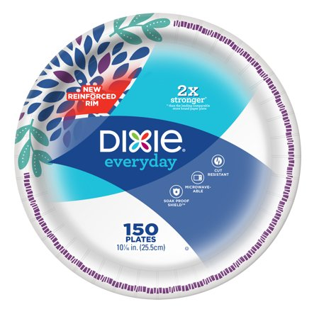 Dixie Everyday Paper Dinner Plates, 10