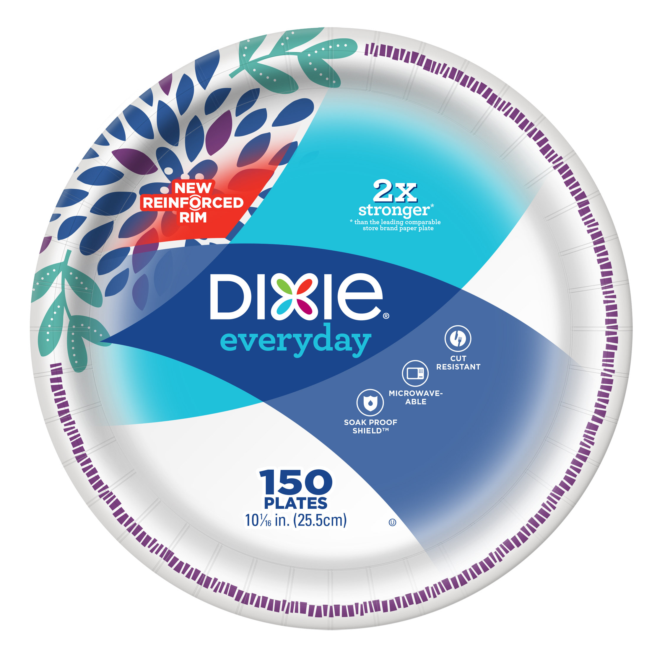 "Dixie Everyday Paper Plates, 10/16"", 150 count"