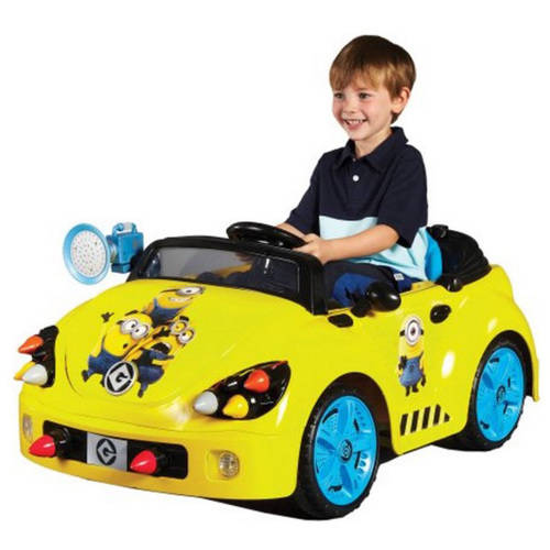 Minions 6-Volt Rocket Car Electric Battery-Powered Ride-On