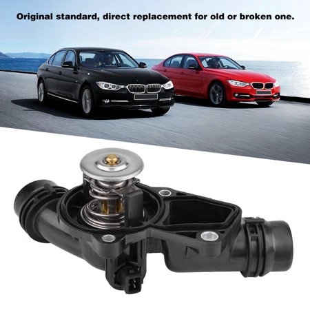 Ejoyous 11531437040 Car Engine Coolant Thermostat with Housing Assembly for BMW E46, Thermostat for BMW,