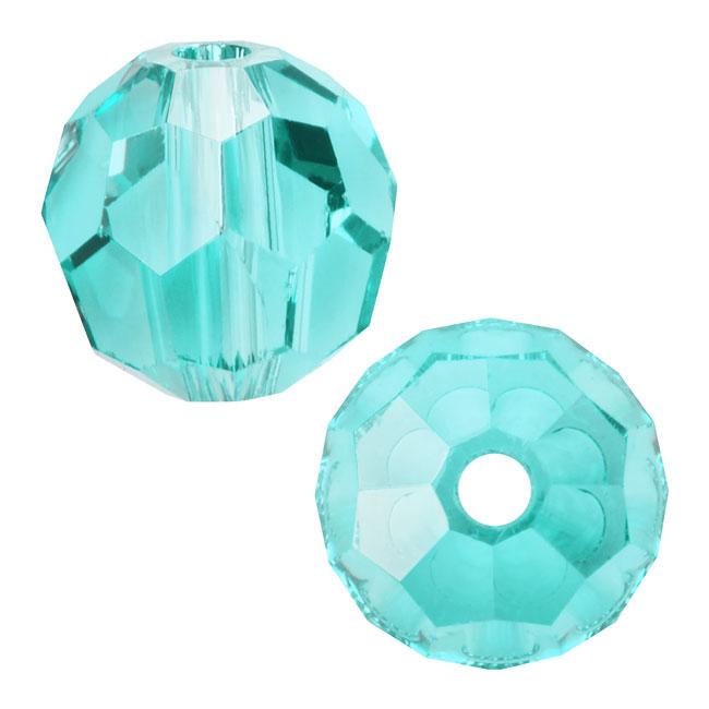 Swarovski Crystal, #5000 Round Beads 3mm, 20 Pieces, Light Turquoise