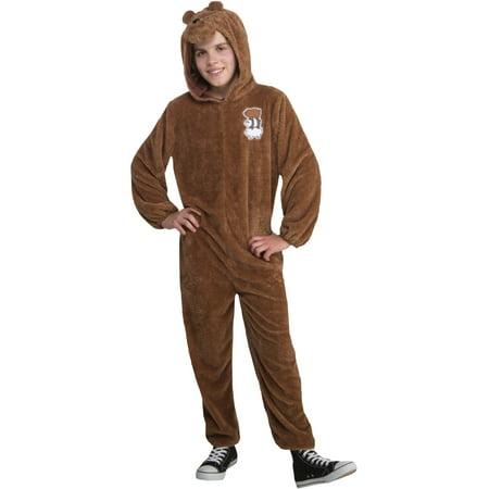 We Bare Bears Grizz Onesie Teen Costume Large - Dancing Bear Costume