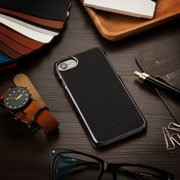 iPhone 7 / 6 / 6s Case, by BasAcc Black Frame Rear Premium Leather Slim Fit Protective Case Back Cover for Apple iPhone 7 / 6 / 6s (Christmas Gift Idea)
