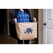Multi-Use Storage Bin Baskets - Collapsible - Strong High Quality Eco Mesh Woven - Elephant
