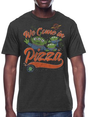 Toy Story We Come In Pizza Men's and Big Men's Graphic T-shirt