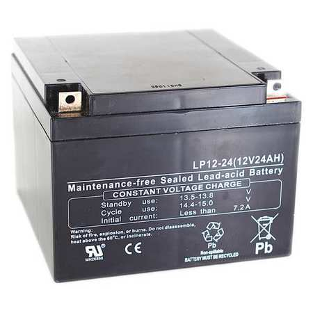 Edwards Sealed Lead Acid Battery,12V,17Ah,Lug Terminal Ty...