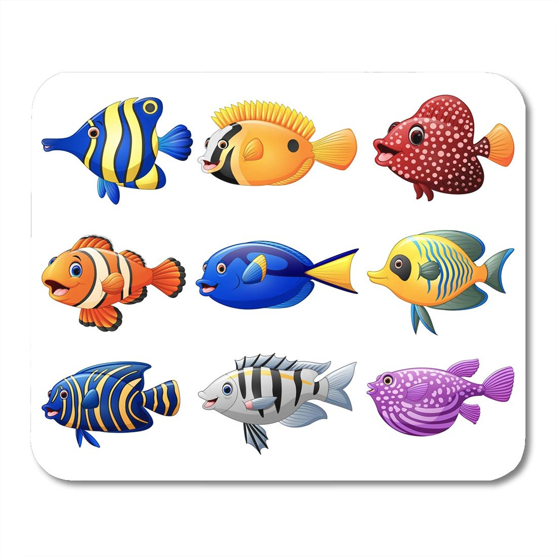 Coral Reef Clown Fish Rubber Mouse Mat PC Mouse Pad