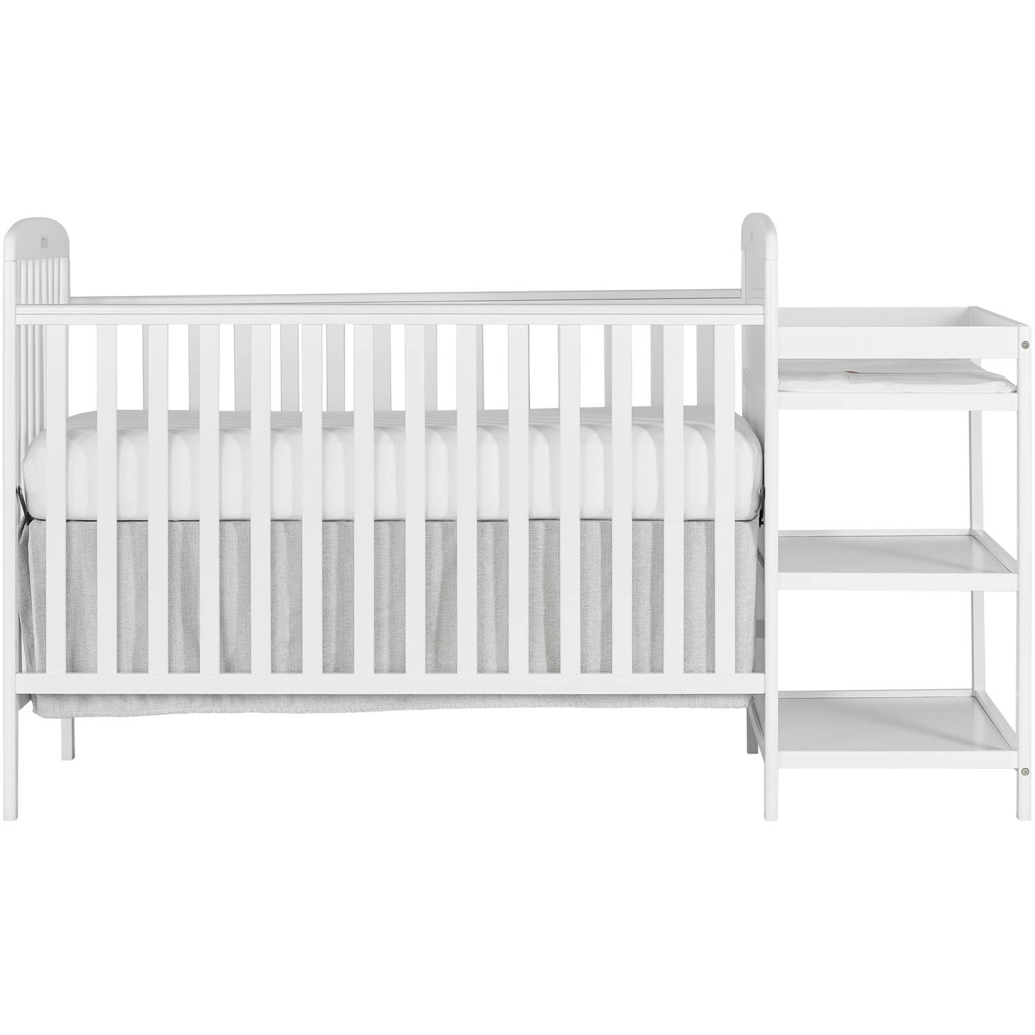 dream on me anna 4in1 full size crib and changing table white