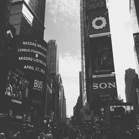Canvas Print NYC Busy Crowd Traffic Times Square City New York Stretched Canvas 10 x 14 (Halloween New York Times Square)